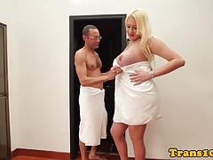 Bigtit latina tranny doggystyled after suck off