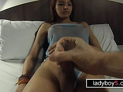 Teen she-creature with a big dick dt and buttfuck doggy