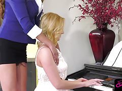 Killer ts piano teacher Jessica Fox pounding tight pussy