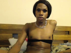 Ebony Shemale With Small Tits And Big Rod