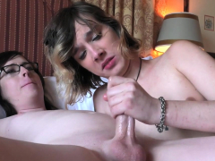 Lovely light-haired transsexual chick getting  ruined