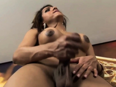 Sexual latin trannie  on ample lovestick