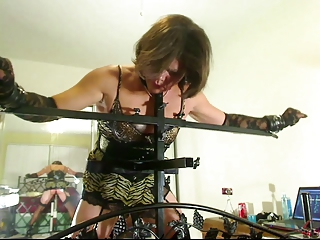 Little Miss Christi fucked increased wide of spanked wide of robotic machines