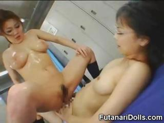 Asian Squirts On Futanari Teen!