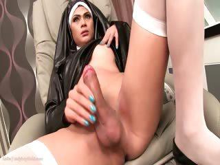 Ladyboy Anita Putrid Nun Bareback