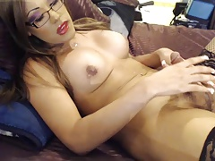 T-girl with glasses another one