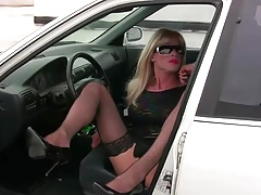 TrannyKitty fun (NonNude) upskirt tranny enlivenment