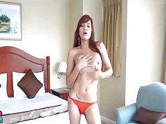 Fledgling Chinese TS Filipina Get Fucked Bareback