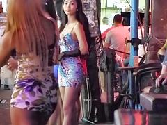 Ladyboy flashing  in Public